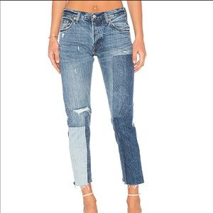 Levi 501 ragged lands jeans